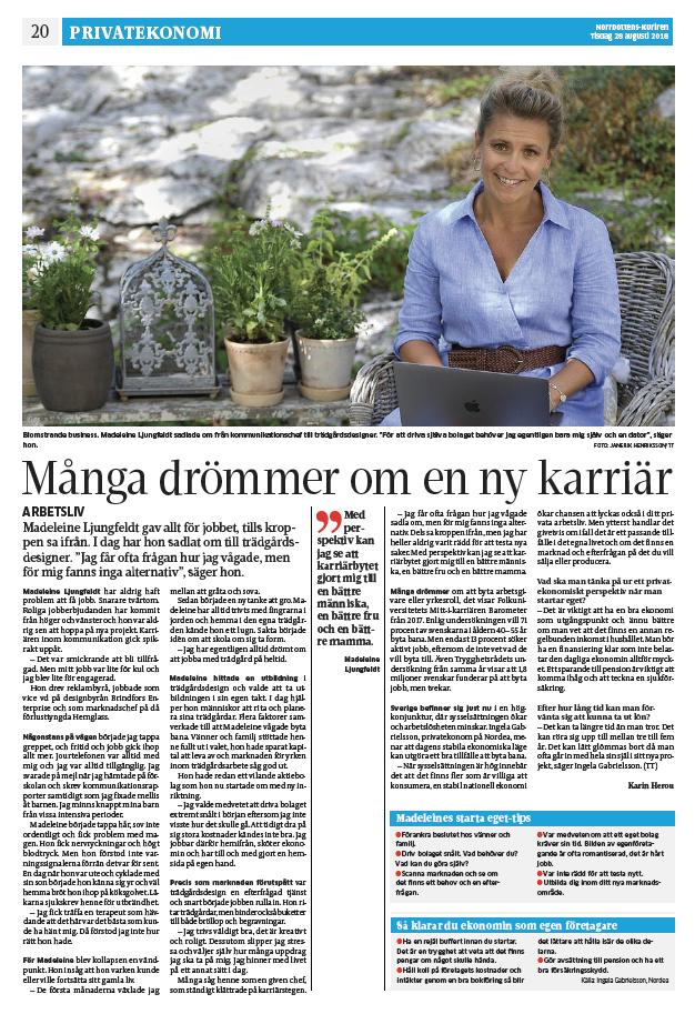 Artikel Norrbottenskuriren Madeleines Tradgard