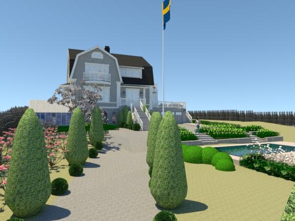 Trädgårdsdesign Djursholm