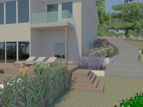 Trappa trädgård