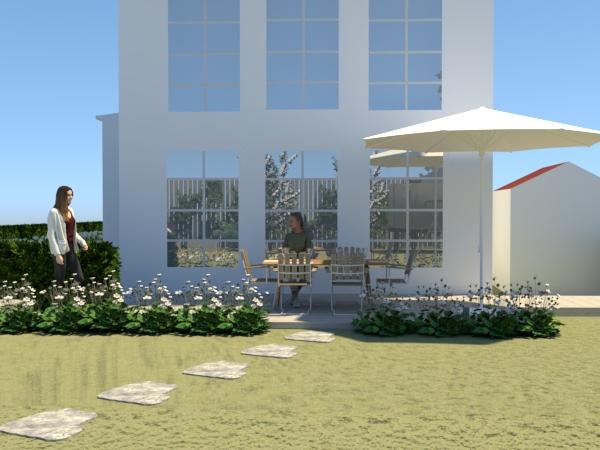 Trädgårdsdesign uteplats
