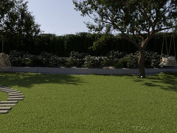 trädgårdsdesign slänt